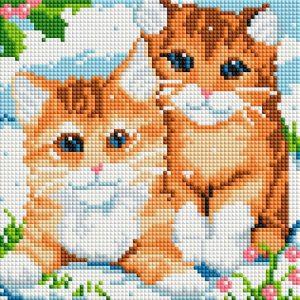 Алмазная мозаика на подрамнике Белоснежка «Рыжие котята» 469-ST-PS