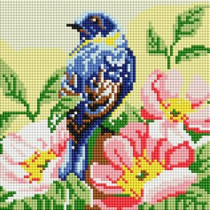 Алмазная мозаика на подрамнике Белоснежка «Птичка» 472-ST-PS