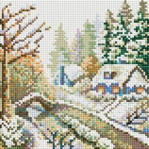 Алмазная мозаика на подрамнике Белоснежка «Зима» 475-ST-PS