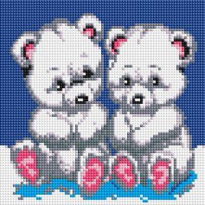 Алмазная мозаика на подрамнике Белоснежка «Медвежата» 454-ST-PS