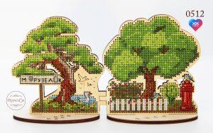 Набор для вышивания крестом на деревянной основе Фрузелок «Окраины» 0512
