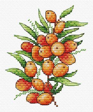Набор для вышивания крестом М.П.Студия «Облепиховое настроение» М-591