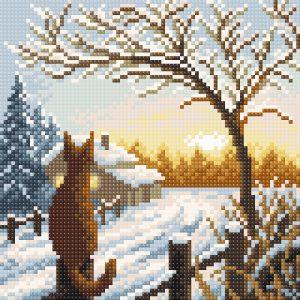 Алмазная мозаика Brilliart «Рассвет в деревне» МС-054
