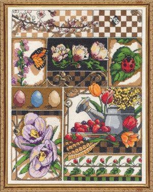 Набор для вышивания крестом Janlynn «Весенняя композиция» 017-0101