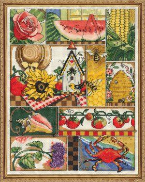 Набор для вышивания крестом Janlynn «Летняя композиция» 017-0102
