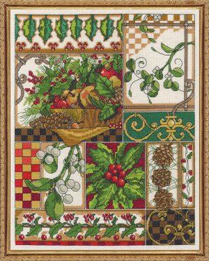 Набор для вышивания крестом Janlynn «Зимняя композиция» 017-0104