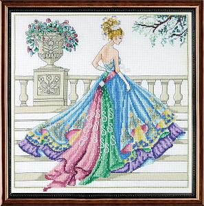 Набор для вышивания крестом Janlynn «Бальное платье» 7001