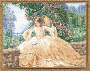 Набор для вышивания крестом Janlynn «Локоны и розы» 032-0104