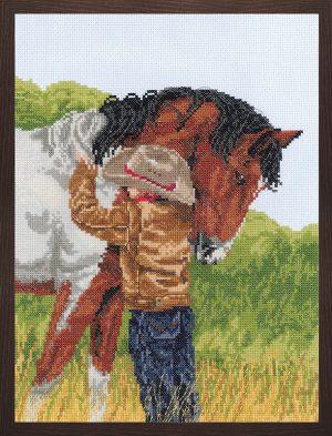 Набор для вышивания крестом Janlynn «Любимый конь» 008-0209