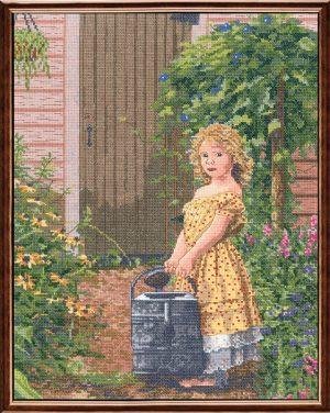 Набор для вышивания крестом Janlynn «Дочь садовника» 012-0102