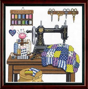 Набор для вышивания крестом Janlynn «Швейная комната» 017-0100