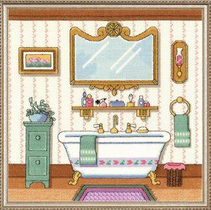 Набор для вышивания крестом Janlynn «Ванна в викторианском стиле» 006-0100