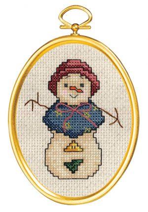 Набор для вышивания крестом Janlynn «Снежная леди» 021-1791