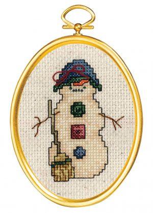 Набор для вышивания крестом Janlynn «Застенчивый снеговик» 021-1795