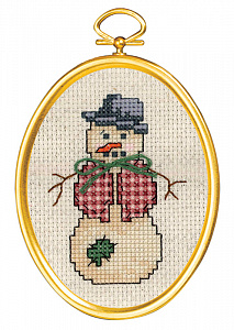 Набор для вышивания крестом Janlynn «Франтовый снеговик» 021-1797