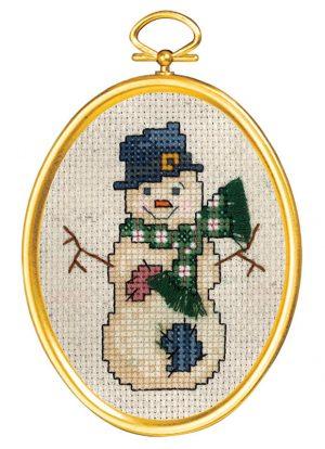Набор для вышивания крестом Janlynn «Снеговик в цилиндре» 021-1798