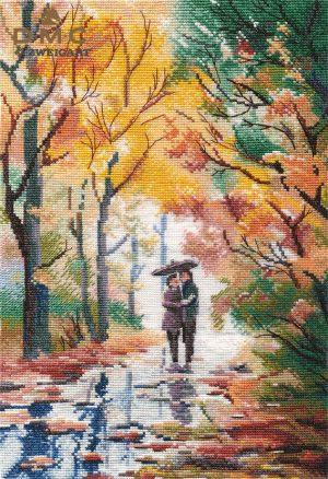 Набор для вышивания крестом Овен «Осенняя прогулка» ov1354