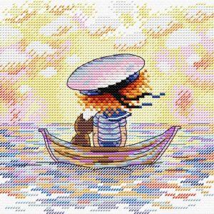 Набор для вышивания крестом М.П.Студия «По волнам» М-594