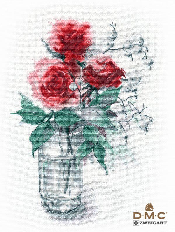 Набор для вышивания крестом Овен «Розы и снежноягодник» ov1353