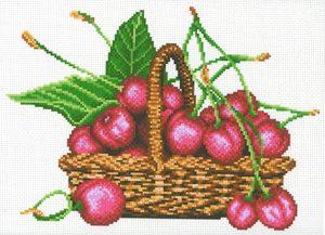 Наборы для вышивания крестом М.П.Студия «Корзина с вишнями» СК-109