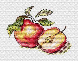 Набор для вышивания крестом М.П.Студия «Сочные яблочки» М-596