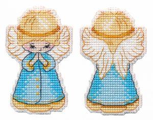 Набор для вышивания крестом Овен «Елочная игрушка. Ангел» ov1363
