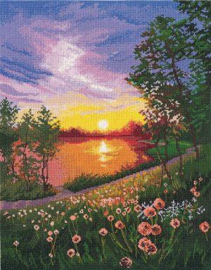 Набор для вышивания крестом Овен «Летний закат» ov1356