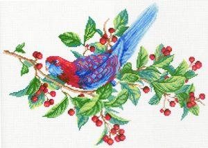 Наборы для вышивания крестом М.П.Студия «Попугай на ветке» СК-107