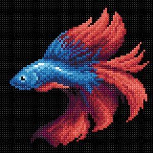 Алмазная мозаика Brilliart «Рыбка красная» МС-057