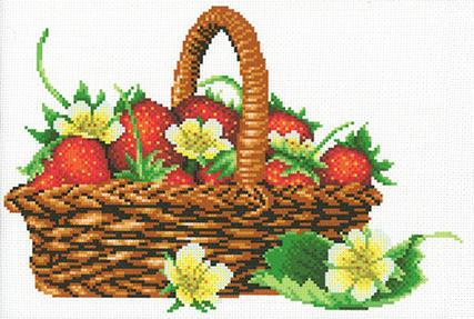 Наборы для вышивания крестом М.П.Студия «Урожай клубники» СК-110