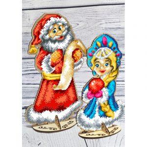 Заготовка под вышивку бисером Biser-Art «Дед Мороз и Снегурочка» 37659