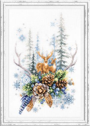 Набор для вышивки крестом Чудесна Игла «Дух зимнего леса» арт.200-017