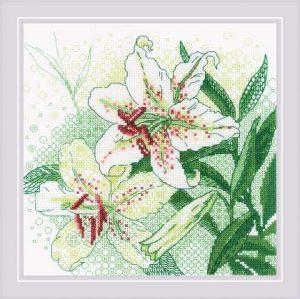 Набор для вышивания крестом Риолис «Белые лилии» 1915