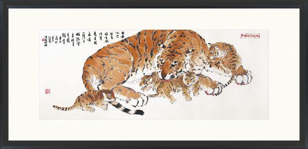 Набор для вышивки крестом Xiu crafts «Пять тигров» 2031602