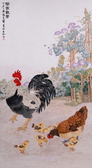 Набор для вышивки крестом Xiu crafts «Куриное семейство» 2030805