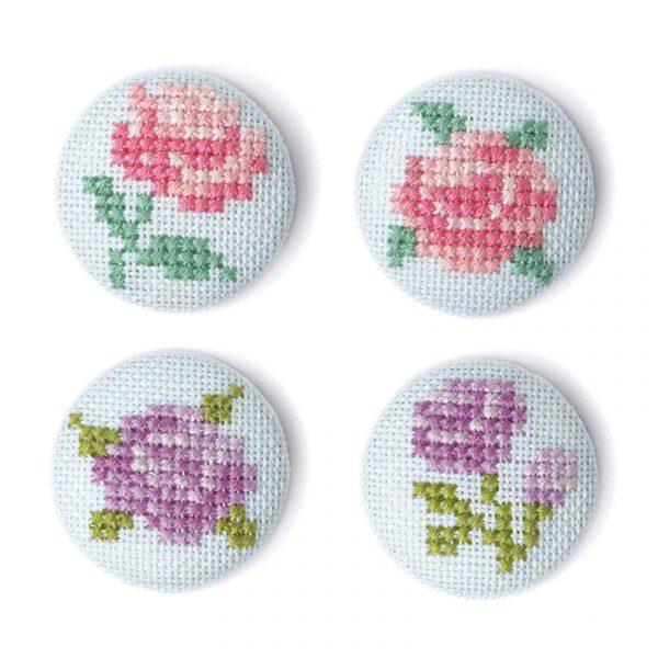 Набор для вышивки заколок Xiu crafts «Цветы» 2871101