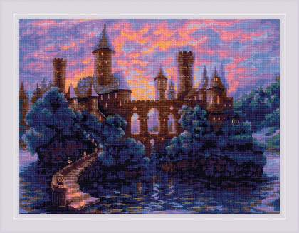 Набор для вышивания крестом Риолис «Таинственный замок» 1909