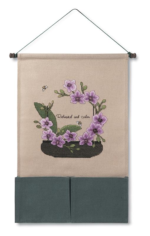 Набор для вышивки настенного органайзера Xiu crafts «Орхидея» 2871002