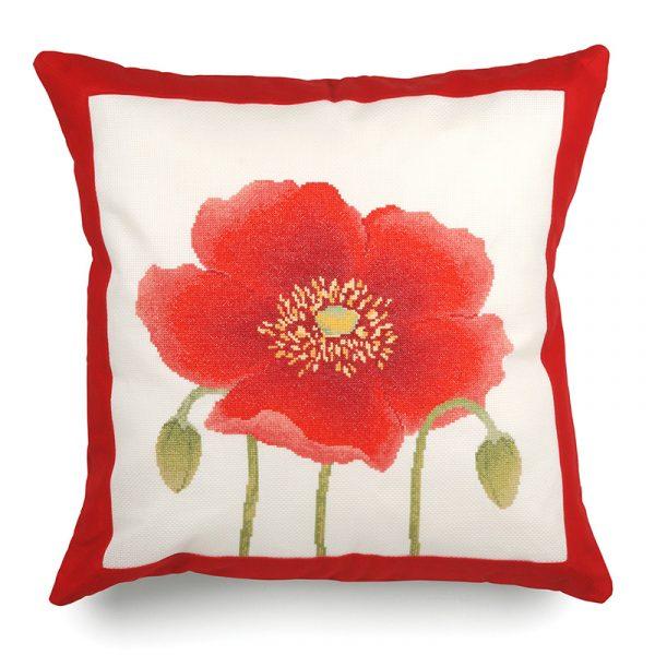 Набор для вышивания подушки Xiu crafts «Мак» 2870301