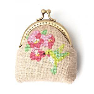 Набор для вышивки кошелька Xiu crafts «Колибри» 2860407