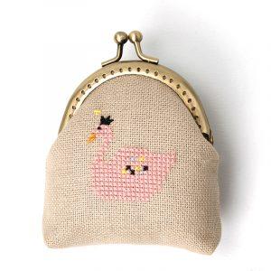 Набор для вышивки кошелька Xiu crafts «Розовый лебедь» 2860403
