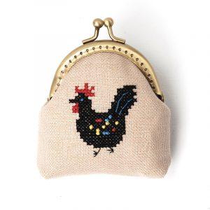 Набор для вышивки кошелька Xiu crafts «Чёрный петух» 2860402