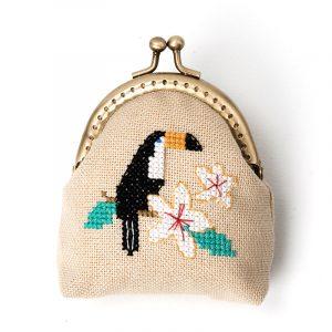 Набор для вышивки кошелька Xiu crafts «Тукан на ветке» 2860404
