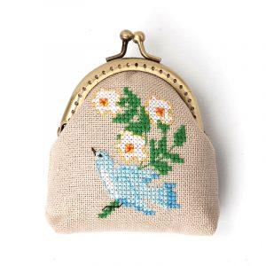 Набор для вышивки кошелька Xiu crafts «Синяя птица счастья» 2860406