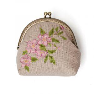 Набор для вышивки кошелька Xiu crafts «Вишневый цвет» 2860307