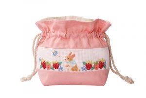 Набор для вышивки сумки Xiu crafts «Клубника и кролик» 2860504