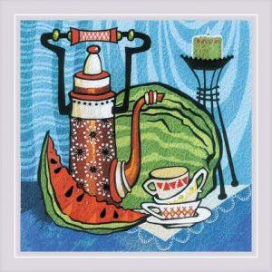 Набор для вышивания гладью Риолис «Сочный арбуз» 0086 РТ