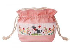 Набор для вышивки кошелька Xiu crafts «Цветок и кошка» 2860503