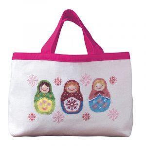 Набор для вышивки сумки Xiu crafts «Матрёшки» 2860207