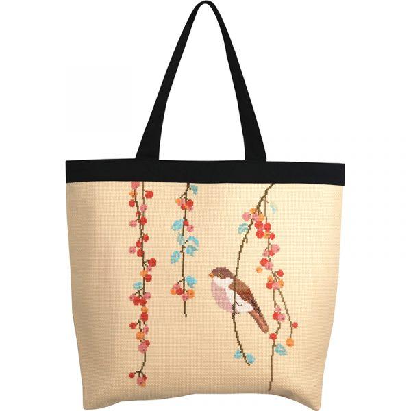 Набор для вышивки сумки Xiu crafts «Синица и ягоды» 2860202